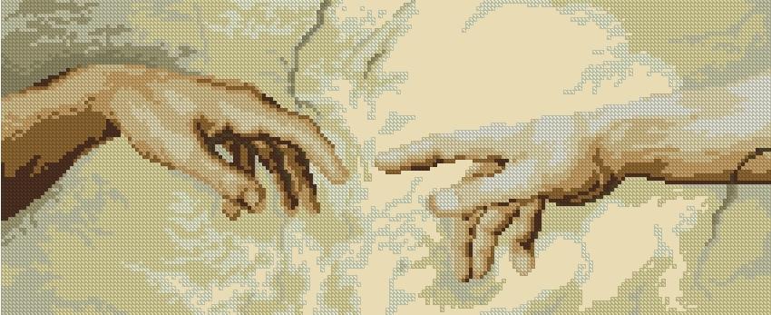 Руки тянутся друг к другу