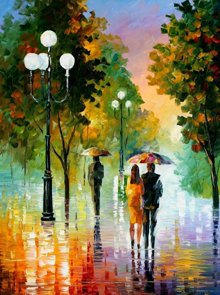 Вечерняя прогулка под дождем