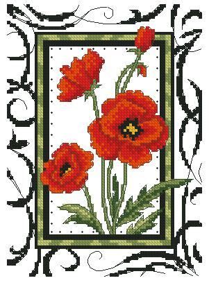 Схемы для вышики крестом.  Волшебные замки.  Вышивка в технике Барджело.  Теперь подбирала схемы вышивки цветов.