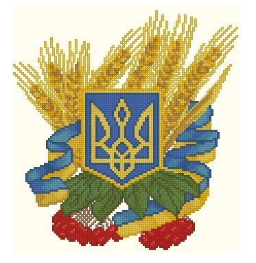 схема вышивки герб украины