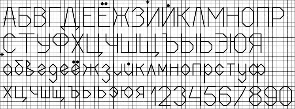 Вышивка схема метрика алфавит
