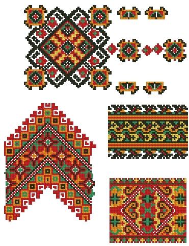 Этнический узор для вышивки 259