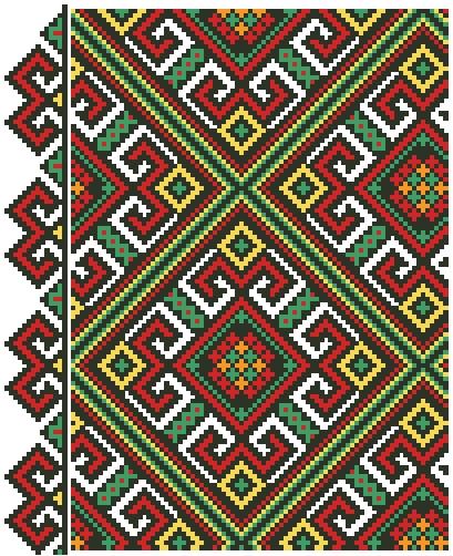 Башкирский орнамент вышивка 27