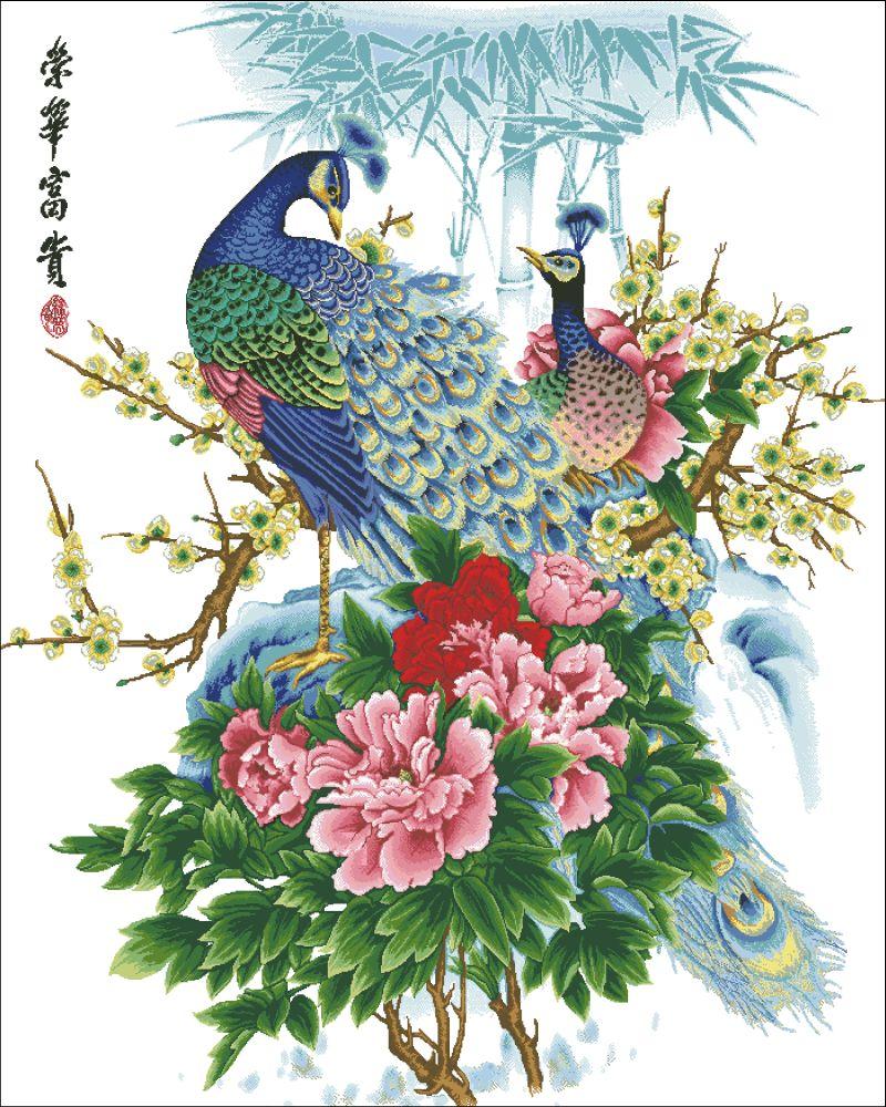 Жар птица из цветов фото