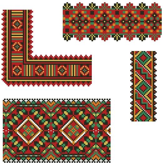 Вышивка индейского орнамента