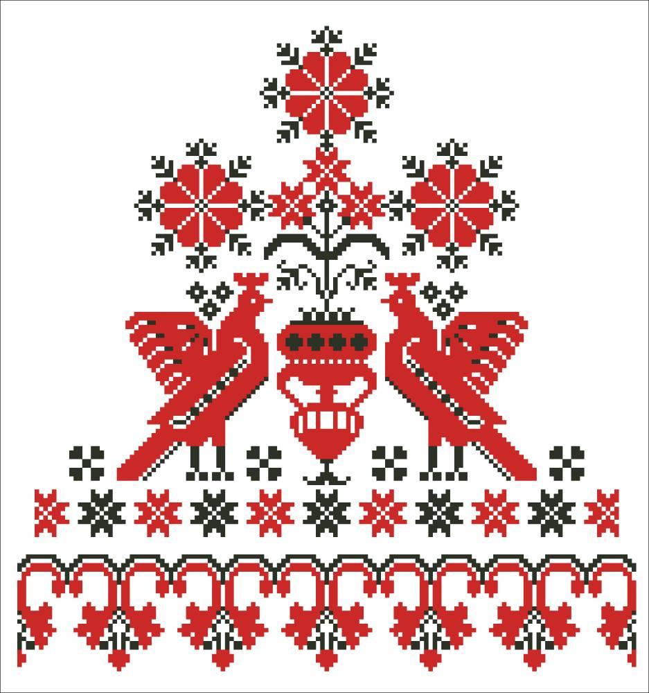 Славянская свадебная вышивка крестом