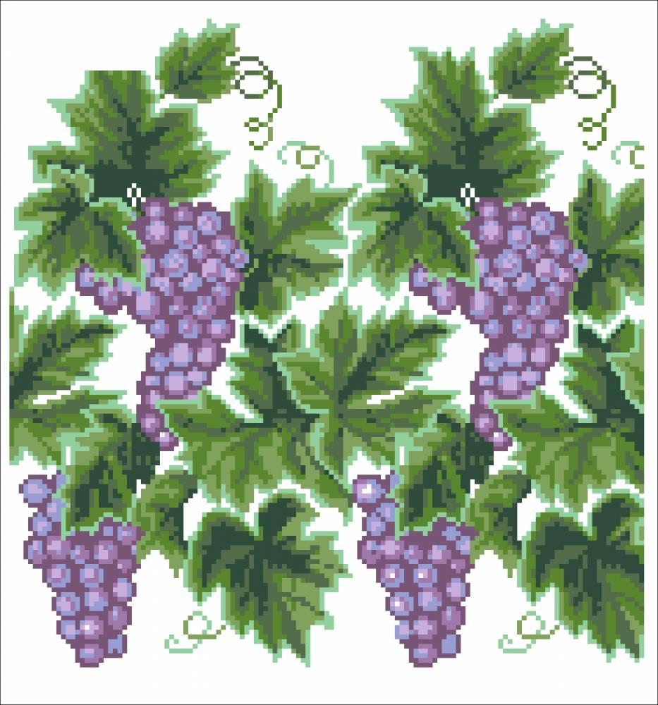 Вышивка символ виноград