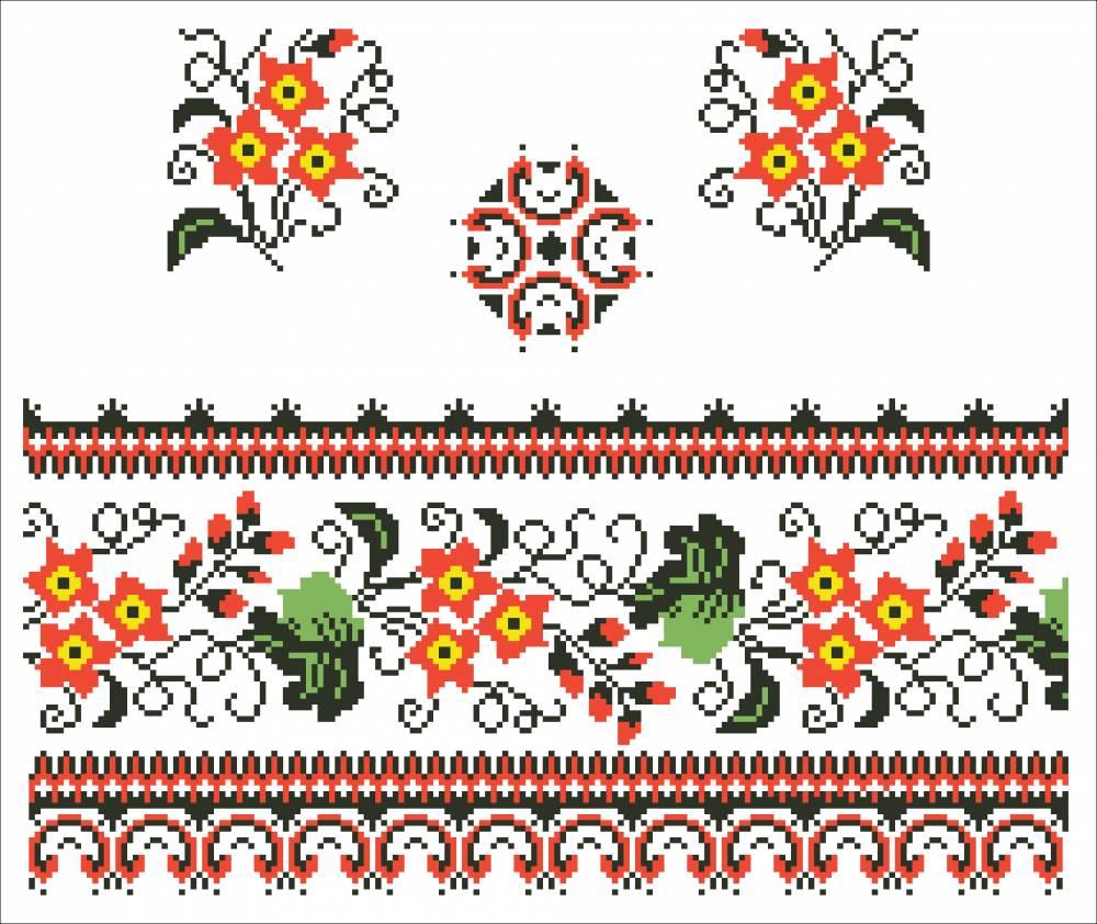 Вышивка украинская схемы 38