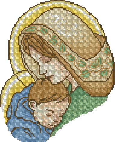 Схема вышивку мадонна с младенцем