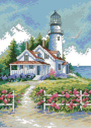Вышивка крестиком вышивальные приметы маяк что означает