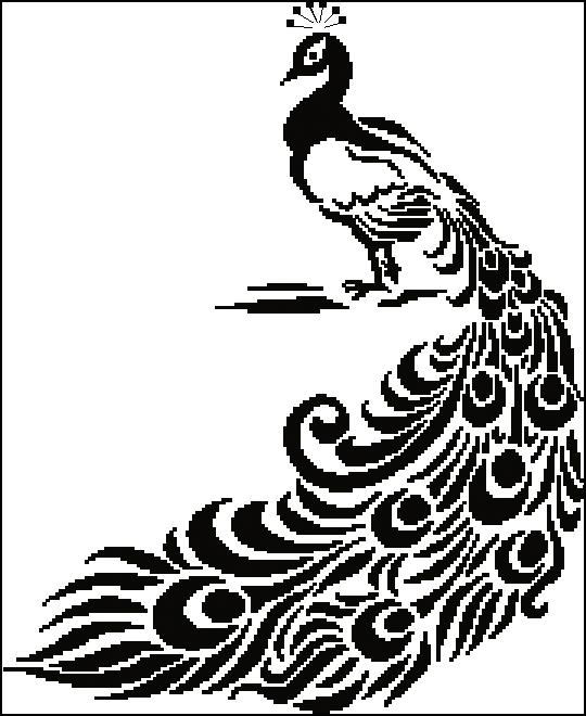 Вышивка крестом черно-белая и графика