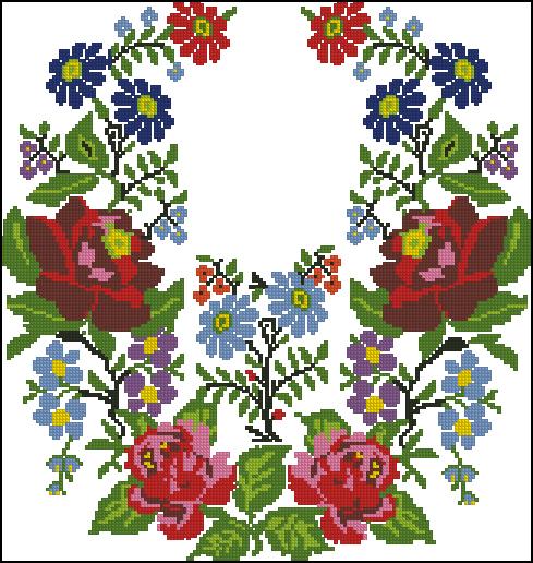 Схема вышивки на вышиванках