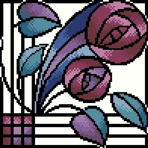 Схемы абстрактных вышивок
